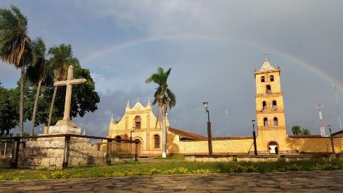 Bella imagen del templo de San José de Chiquitos. (Foto: Limber Cambará)